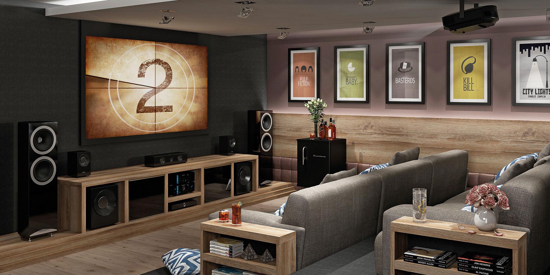Mezzo Castani e painel da TV em Preto